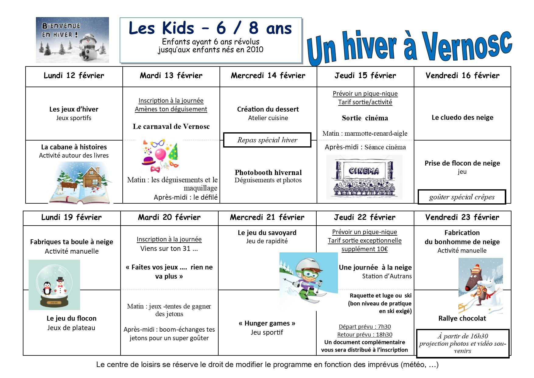 Activités Manuelles Centre De Loisirs 6 10 Ans centre de loisirs - vacances de fevrier - inscriptions - vernosc-les